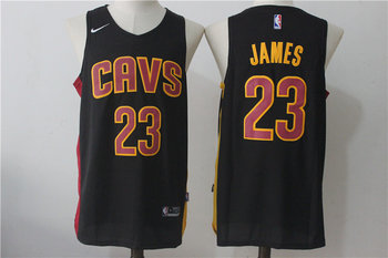 Cavaliers 23 LeBron James Navy Nike Stitched Jersey