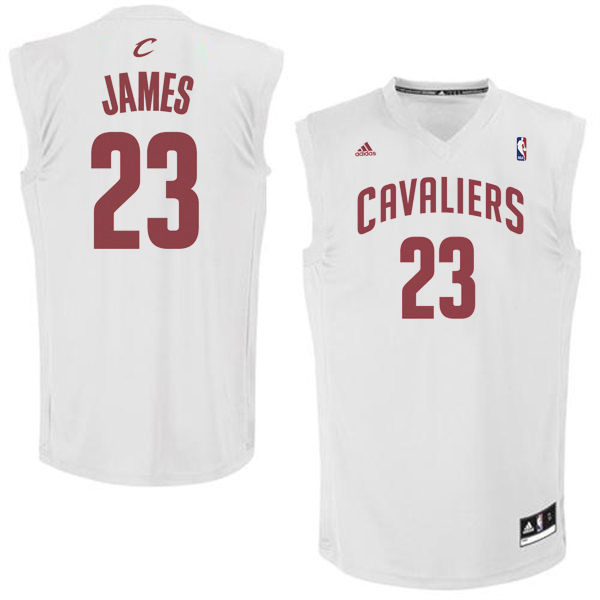 Cavaliers 23 LeBron James White Fashion Replica Jersey