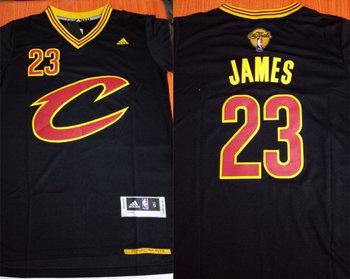 Cavaliers 23 Lebron James Black Pride 2017 NBA Finals Swingman Jersey