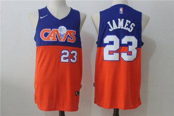 Cavaliers 23 Lebron James Blue & Orange Nike Jersey