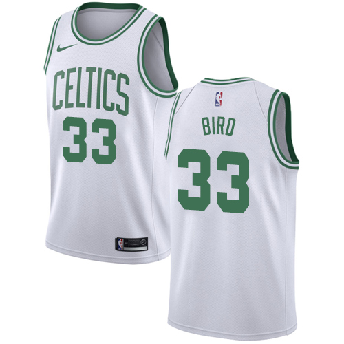 Celtics #33 Larry Bird White Basketball Swingman Association Edition Jersey
