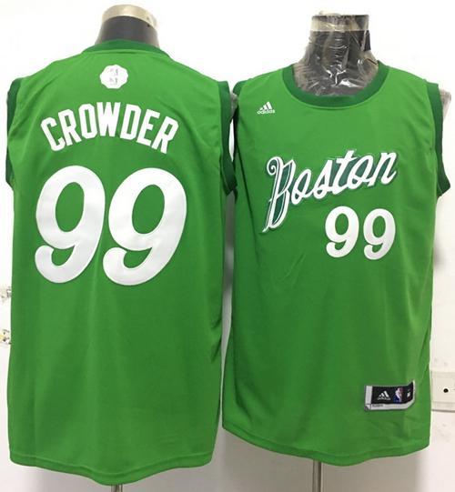 Celtics #99 Jae Crowder Green 2016-2017 Christmas Day Stitched NBA Jersey