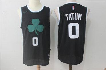 Celtics 0 Jayson Tatum Black Nike Jersey