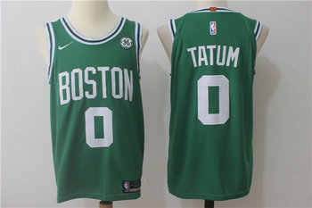 Celtics 0 Jayson Tatum Green Nike Jersey