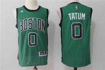 Celtics 0 Jayson Tatum Green Swingman Jersey