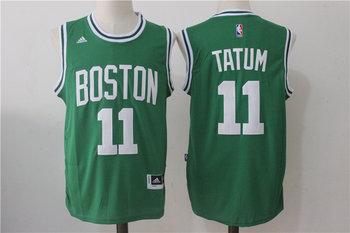 Celtics 11 Jayson Tatum Green Swingman Jersey