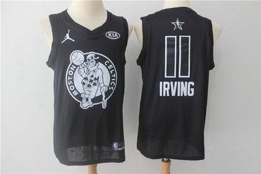 Celtics 11 Kyrie Irving Jordan Brand Black 2018 All-Star Game Swingman Jersey
