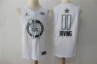 Celtics 11 Kyrie Irving Jordan Brand White 2018 All-Star Game Swingman Jersey