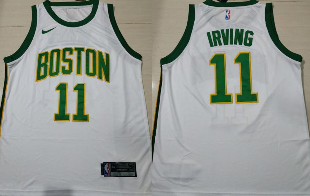 Celtics 11 Kyrie Irving White 2018-19 City Edition Nike Swingman Jersey