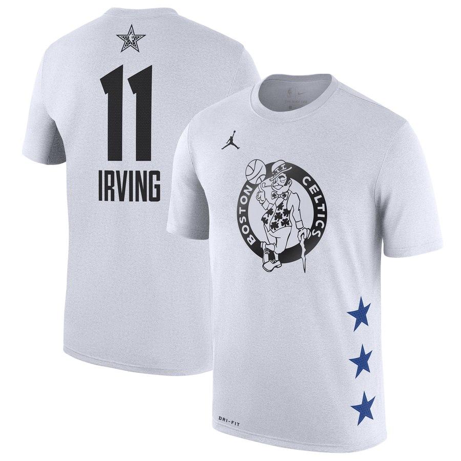 Celtics 11 Kyrie Irving White 2019 NBA All-Star Game Men's T-Shirt