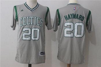 Celtics 20 Gordon Hayward Gray Pride Swingman Jersey