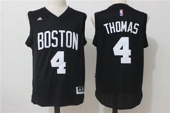 Celtics 4 Isaiah Thomas Black Swingman Jersey