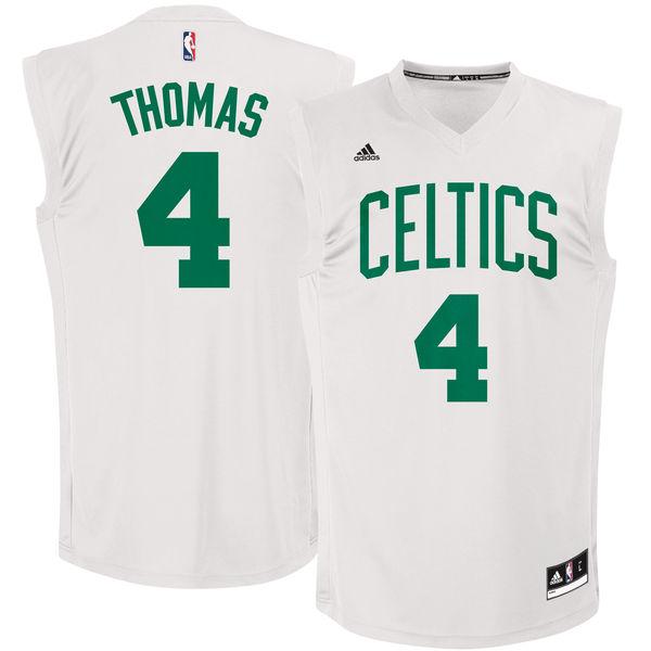 Celtics 4 Isaiah Thomas White Chase Fashion Replica Jersey