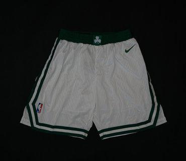Celtics White Nike NBA Shorts