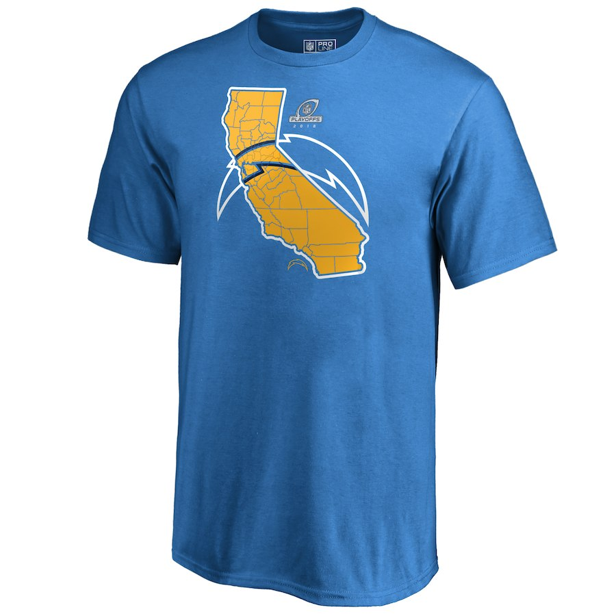 Chargers Light Blue 2018 NFL Playoffs Men's T-Shirt