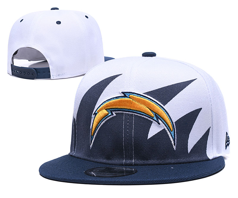 Chargers Team Logo White Navy Adjustable Hat GS