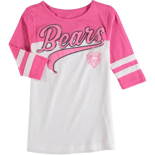 Chicago Bears 5th & Ocean Women's Half Sleeve T-Shirt Pink