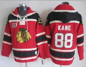 Chicago Blackhawks NHL jerseys chicago blackhawks #88 Patrick Kane red(pullover hooded sweatshirt)