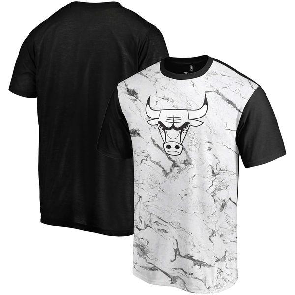 Chicago Bulls Marble Sublimated T Shirt White Black
