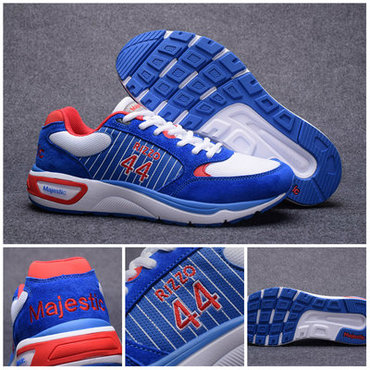 Chicago Cubs #44 Anthony Rizzo Blue MLB Shoes