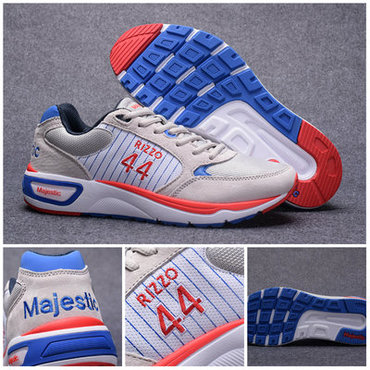 Chicago Cubs #44 Anthony Rizzo White MLB Shoes