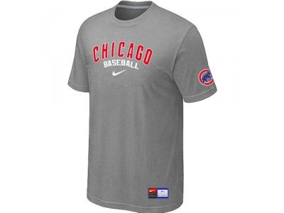 Chicago Cubs L.Grey NEW Short Sleeve Practice T-Shirt