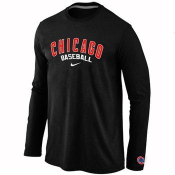 Chicago Cubs Long Sleeve T-Shirt Black