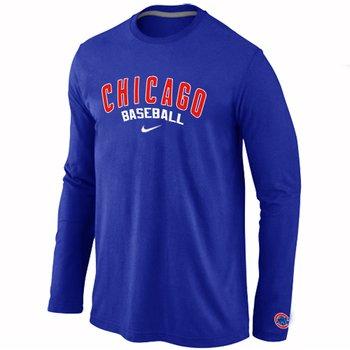 Chicago Cubs Long Sleeve T-Shirt Blue