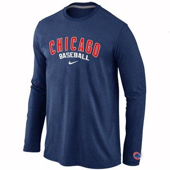 Chicago Cubs Long Sleeve T-Shirt D.Blue