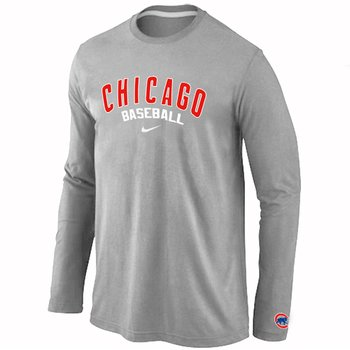 Chicago Cubs Long Sleeve T-Shirt Grey