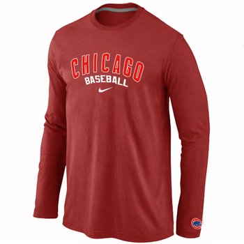 Chicago Cubs Long Sleeve T-Shirt RED