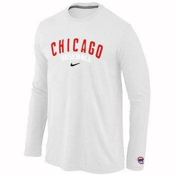 Chicago Cubs Long Sleeve T-Shirt white