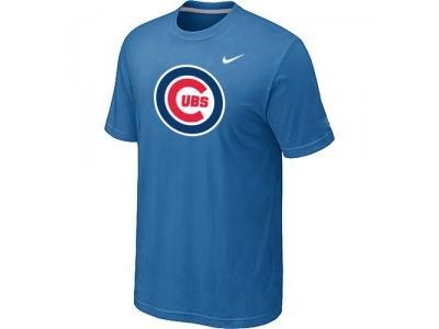 Chicago Cubs NEW Heathered light Blue Club Logo T-Shirt