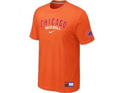Chicago Cubs Orange NEW Short Sleeve Practice T-Shirt