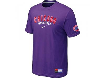 Chicago Cubs Purple NEW Short Sleeve Practice T-Shirt
