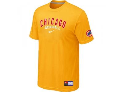 Chicago Cubs Yellow NEW Short Sleeve Practice T-Shirt