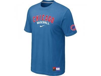 Chicago Cubs light Blue NEW Short Sleeve Practice T-Shirt