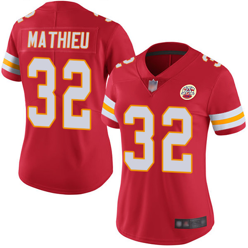 Chiefs #32 Tyrann Mathieu Red Team Color Women's Stitched Football Vapor Untouchable Limited Jersey