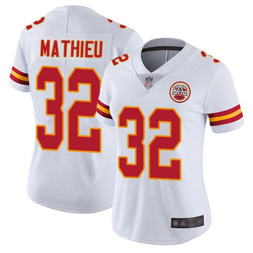 Chiefs #32 Tyrann Mathieu White Women's Stitched Football Vapor Untouchable Limited Jersey