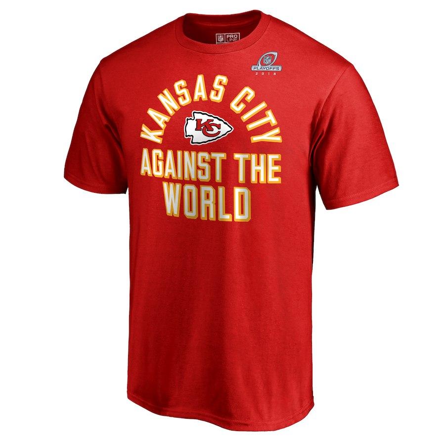 Chiefs Red 2018 NFL Playoffs Against The World Men's T-Shirt