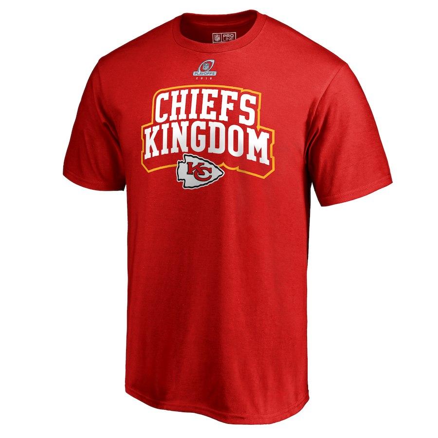 Chiefs Red 2018 NFL Playoffs Chiefs Kingdom Men's T-Shirt