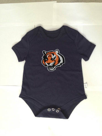 Cincinnati Bengals Newborn Creeper Set - Black