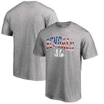 Cincinnati Bengals Pro Line By Fanatics Branded Banner Wave T-Shirt Heathered Gray
