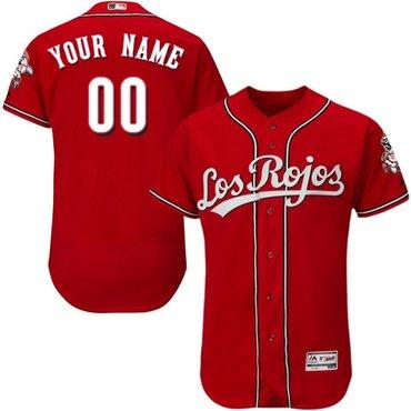 Cincinnati Reds Red Alternate Men's Customized Flexbase Jersey