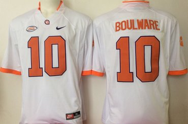 Clemson Tigers 10 Ben Boulware White College Football Jersey