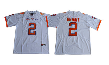 Clemson Tigers 2 Kelly Bryant White College Football Jersey