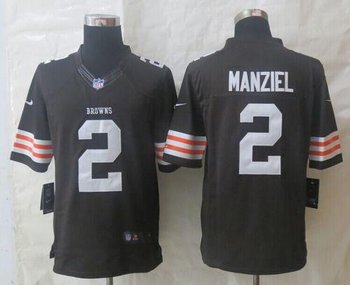 Cleveland Browns #2 Johnny Manziel Brown Team Color NFL Limited Jersey