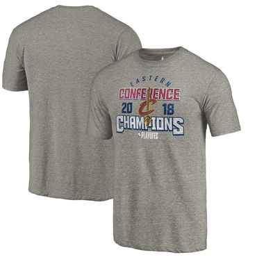 Cleveland Cavaliers Fanatics Branded 2018 NBA Finals Bound Catch And Shoot Tri-Blend T-Shirt Gray