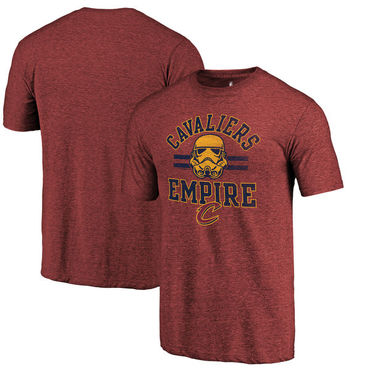 Cleveland Cavaliers Fanatics Branded Cardinal Star Wars Empire Tri-Blend T-Shirt