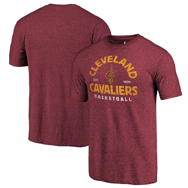Cleveland Cavaliers Fanatics Branded Wine Vintage Arch Tri-Blend T-Shirt
